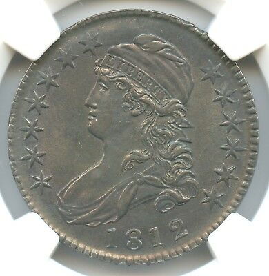 1812 O-104a Capped Bust Half Dollar, NGC MS62