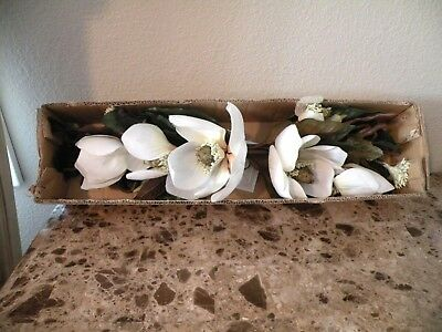 """Home Interiors Magnolia Ivory/White ,Pink Swag 30"""" long"""