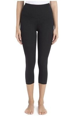 Lysse Women's Tummy Control Shaping Cotton Capri Leggings,Black,Medium