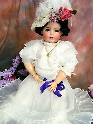 ANTIQUE German BISQUE DOLL JDK KESTNER 260 marked body VICTORIAN dress RARE 35""