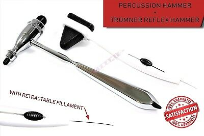 Percussion Hammer With Tactile String + Tromner Reflex Hammer Diagnostic Set