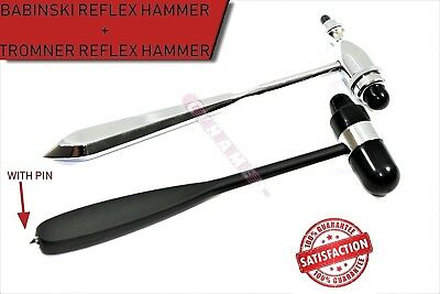Reflex Hammers Babinski Buck + Tromner Neurological Hammer Medical 2Pcs New