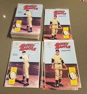 Magnum Comics MICKEY MANTLE Comic Book # 1 & 2 1991 LOT x 70 Some Sealed Bagged