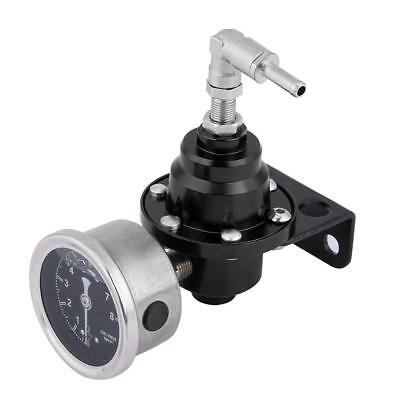 Universal Car 160psi Adjustable 1: 1 Fuel Pressure Regulator Oil Gauge Kit Black
