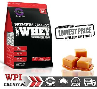 2Kg Whey Protein Isolate Powder  Wpi  100% Caramel