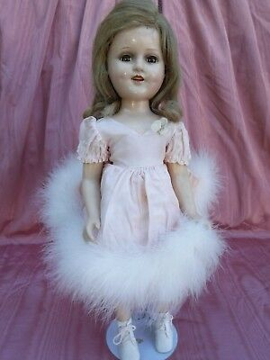 "Vintage Madame Alexander 18"" Sonja Henie Composition Doll in Tagged Dress"