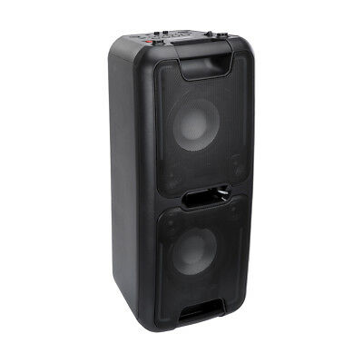 44W Portable PA Sound System Battery Bluetooth Party USB Radio AUX Mic Speaker