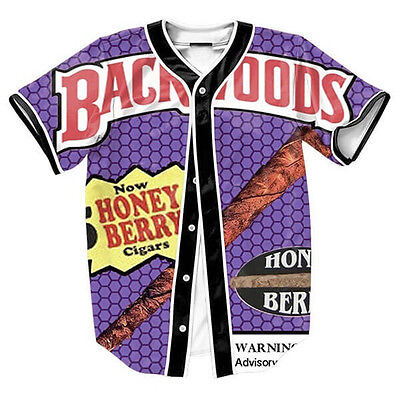 Backwoods Honey Berry Blunts Men Lot Baseball Tee Varity Jersey 3d Sport T-Shirt