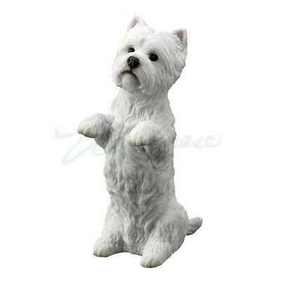 "West Highland White Terrier Sitting Up Puppy Dog - Figurine Miniature 4.25""H New"