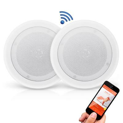 Pyle PDICBT852RD 8 inch 250W Bluetooth Ceiling / Wall Flush Mount Speakers(Pair)