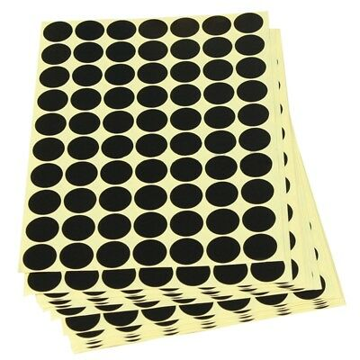 19mm Circles Round Code Stickers Self Adhesive Sticky Labels Black V6X7