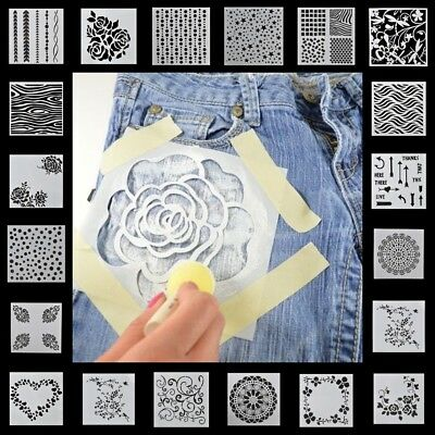 13pcs DIY Craft Embossing Template Scrapbooking Walls Painting Layering Stencils