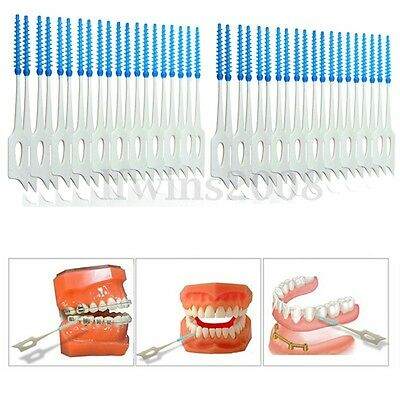 40x Cure Dents Brosse Brossette Interdentaire Dentaire Nettoyage Toothpick Oral