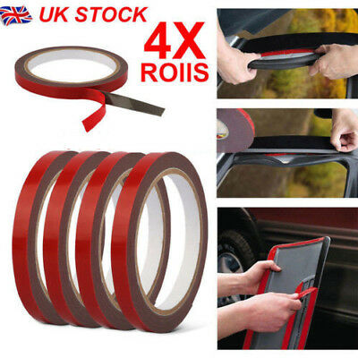 3m x 10mm 4 Rolls Car Vehicle Double Sided Sticker Adhesive Acrylic Foam Tape