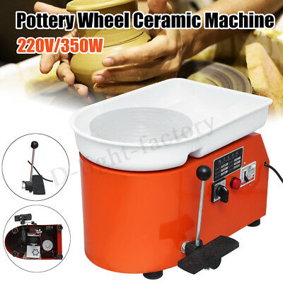 2 in 1 350W 220V Electric Pottery Wheel Machine For Ceramic Clay Art Craft 25CM