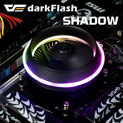 darkFlash Shadow PWM Aluminum CPU LED Addressable RGB Motherboard Control Cooler