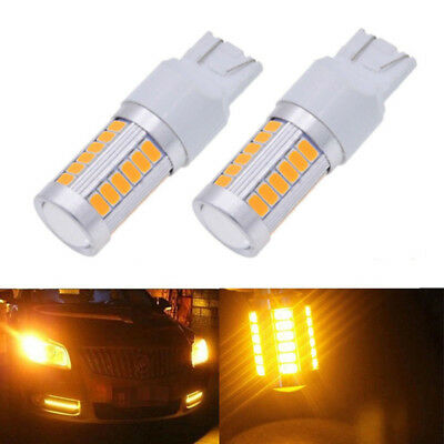 2pcs T20 6500K Yellow 7440 7443 5630 33SMD LED Car Backup Reverse Lights Bulb