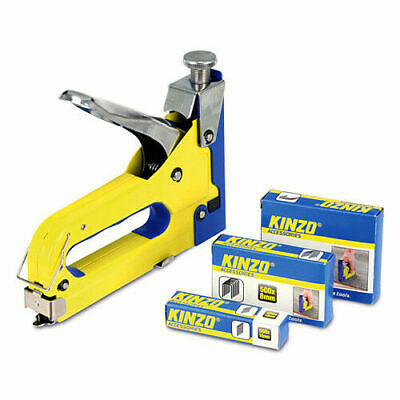 3 In 1 Metal Staple Gun Heavy Duty Stapler Upholstery Tacker Plus 4600 Staples