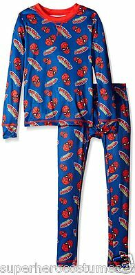 The Amazing Spider-Man Climate Smart Base Layer 2 Piece Set Cuddl Duds BLUE