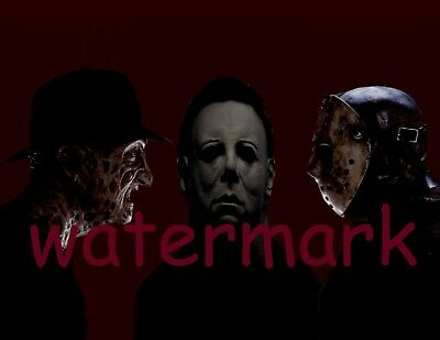 Halloween Jason.Scary Halloween Freddy Kruger Jason Michael Myers Group Collage Publicity Photo