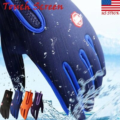 Men Women Winter Touch Screen Windproof Waterproof Outdoor Sport Driving Gloves