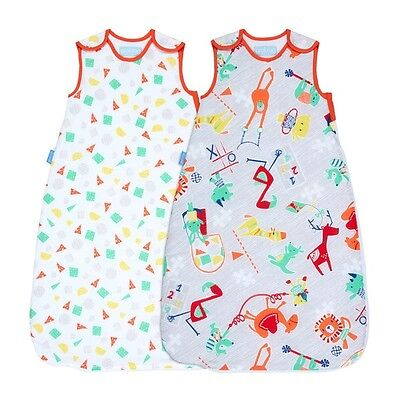 Grobag Sleeping Bag Childs Play Twin Wash & Wear Twin pack 2.5 Tog 6-18 Months