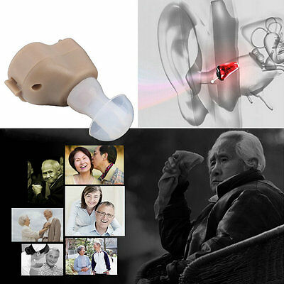 New Small In-Ear Voice Sound Amplifier Adjustable Tone Mini Hearing Ear Aid MG