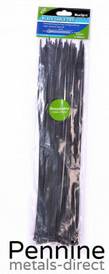 BlueSpot Black CABLE TIES Zip Ties 5 Sizes & Trade Prices Packaging