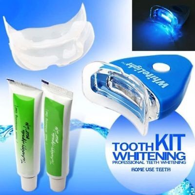 Dental Teeth Tooth Whitening Whitener Bleaching LED White Light Oral Gel Kit UK