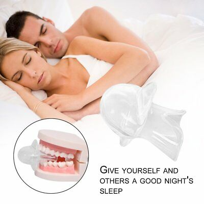 Silicone Anti Snoring Tongue Device Sleep Apnea Aid Stop Snore Stopper Sleeve SY
