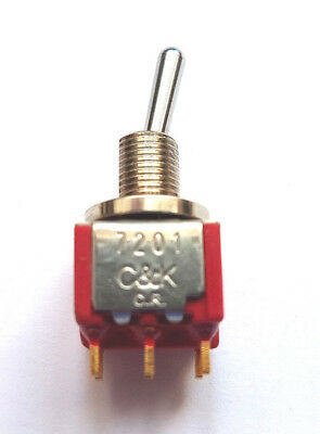 Switch toggle Positions 2 DPDT ON-ON; 2A/250VAC 5A/28VDC IP67  C&K 7201SCWZBE