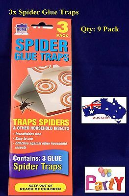 3Pcs x 3Pk Spider Trap Bait Sticky Traps Cockaroaches Insect Bug Pest Control