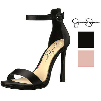 3b94287174b JESSICA SIMPSON WOMENS Plemy Ankle Strap Heeled Sandal