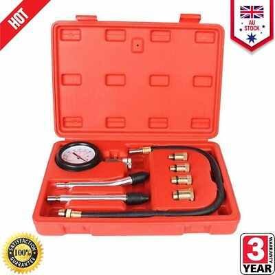 Petrol Engine Compression Tester Kit Set For Automotives Car and Motorcycles Q2Q