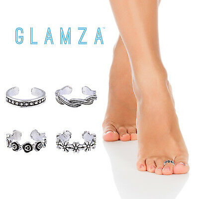 Womens Toe Rings Adjustable Ring Sterling 925 Silver Plated Foot Jewellery Gift