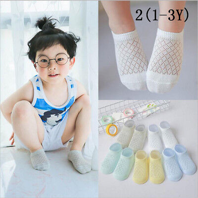 Kid's Socks Spring Summer Boys Girls Cotton Mesh Sock For Toddlers Tnfants UK