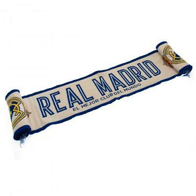 Real Madrid Fc Supporters Official Merchandise  White Scarf Wt