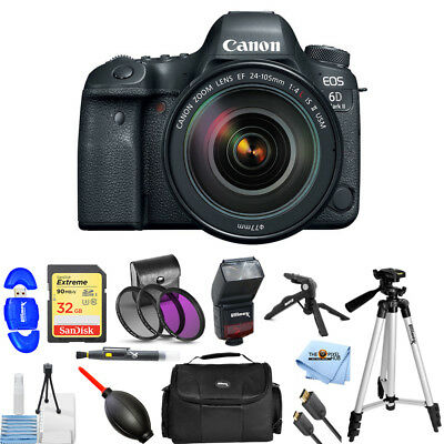 Canon EOS 6D Mark II DSLR Camera W/ 24-105mm f/4L II Lens USA MODEL PRO BUNDLE