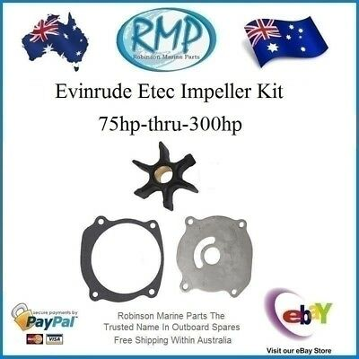 A Brand New Water Pump Impeller Kit Evinrude Etec 75hp-thru-300hp # R 5001595