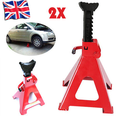 Pair Axle Stands 3 Ton Lifting Capacity Per Stand Heavy Duty Car Caravan UKKT