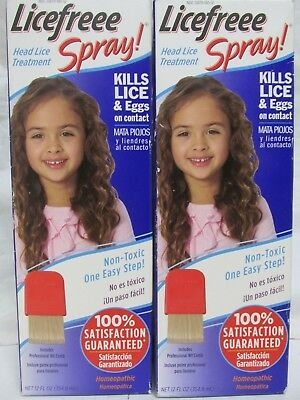 LiceFree Spray Instant Head Lice Treatment Kills On Contact, 24 oz Priority Ship