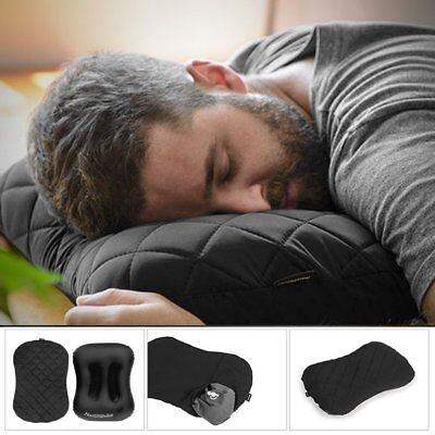 Portable Inflatable Camping Travel Pillow Thicken Dust-proof Pillowcase ES