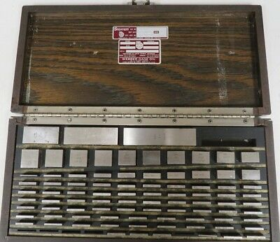 Starrett Webber - English 81 pc - Gage Block Set - Square, Steel Grade 2 - NB40