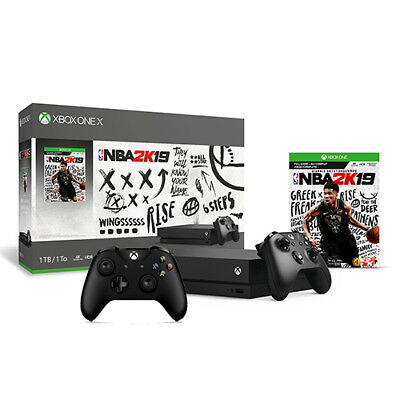 Xbox One X 1TB NBA 2K19 Bundle + Extra Xbox Wireless Controller