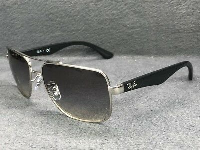 4a82502273 Ray Ban RB3483 003 32 Silver Polished Black   Grey Gradient 60mm Sunglasses
