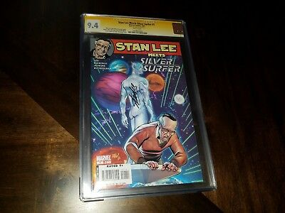 Stan Lee Meets Silver Surfer #1 Signed Cgc 9.4 Ss Stan Lee Auto