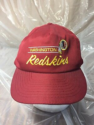Vintage ANNCO NFL Washington Redskins Red Snapback Baseball Hat Cap  Embroidered e8cf90793