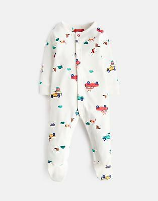 Joules Baby Ziggy Printed Babygrow in CREAM SCOUT AND ABOUT