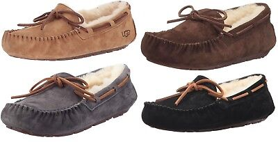 d572f5b5f3 NWT Womens UGG Dakota Moccasin Slippers 5612 CHESTNUT BLACK BROWN GREY Sz 7