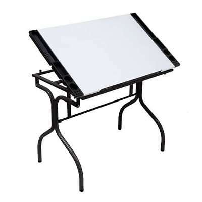 Studio Design Folding Art Drafting Desk Station Craft Table, White (Used)